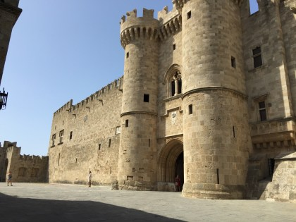 Entrance to the Palace of the Grand Master of the Knights.