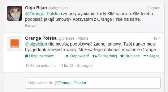 Odpowiedź Orange Polska