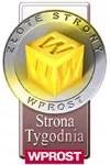 Złota Strona Wprost  - Strona Tygodnia - Odznaka