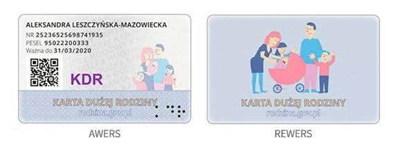 Karta Dużej Rodziny - wygląd