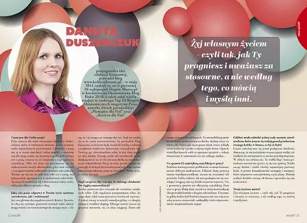 Wywiad w magazynie MeLady - Danuta Duszeńczuk