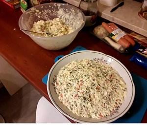 Sałatka jarzynowa - tanie potrawy na wigilię