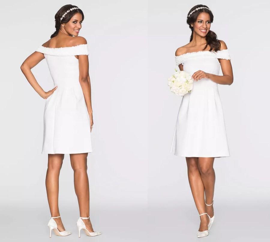 Bon Prix biała sukienka na ślub i wesele