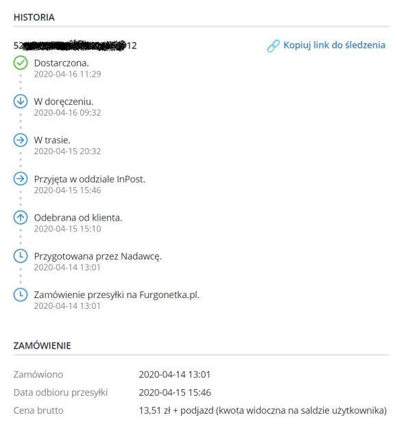jak zamówić kuriera do domu - furgonetka.pl