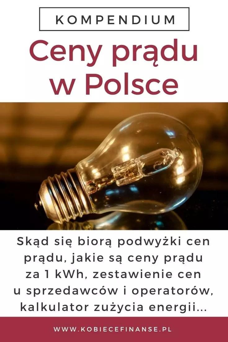Ceny prądu w Polsce - przewodnik: skąd się biorą podwyżki cen prądu, jakie są ceny prądu za 1 kWh, zestawienie cen u sprzedawców i operatorów, kalkulator zużycia energii...