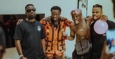Sarkodie N Zlatan Ibile Visits Michael Blackson To Record A New Music - Video