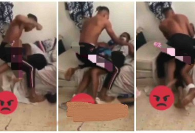 Guy Wrestle N Beats Girlfriend Over A Heated Argument That Lead To Injuries - Video