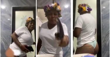 Afia Schwarzenegger Hits Instalive Half-N.a.k℮d To Lay Hot Lyrics On Apostle Kwadwo Safo - Video