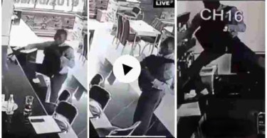 Guy Captured On CCTV Camera Stealing Inside A Pub - Video