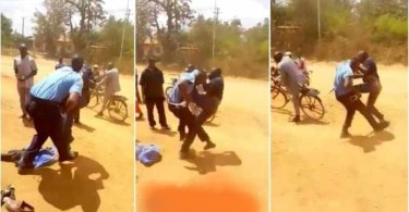 Man Fights Blow To Blow With Armed Police Officer - Video Dey Trend