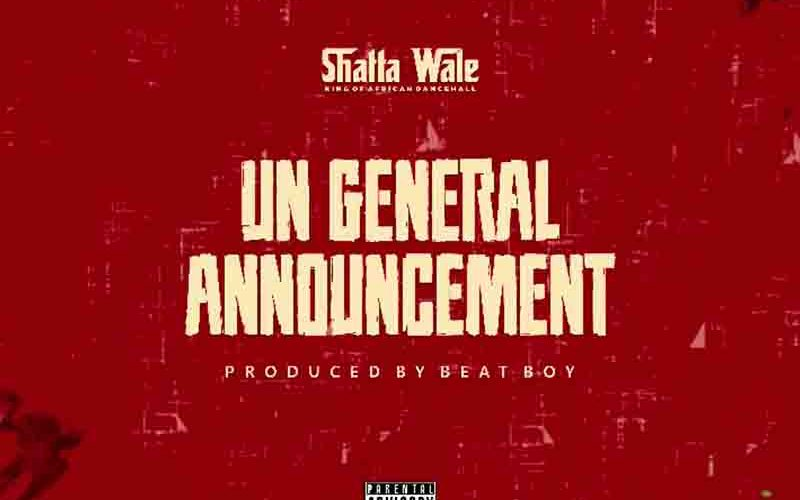 Shatta Wale - UN general Announcement