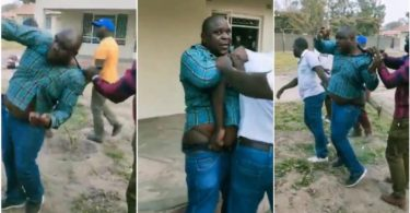 Boss Beat And Slap Slap Worker For Trying To Sleep With His Wife - Video