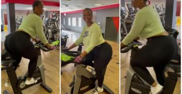 Lady With Big Sweet Backside Charm Men When She Arrived At The Gym To Train - Video
