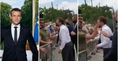 President Macron Slapped By Angry Youth During Walkabout - Video