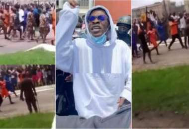 1st Video Of Shatta Wale In Ankaful Prison Trends As Inmates Gather To Hail The King - Video