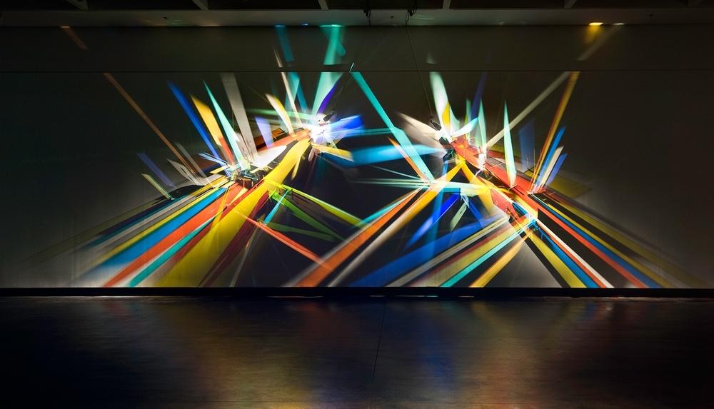 prismatic paintings from lighting by Stephen Knapp_kobi lighting studio