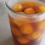完熟梅で 梅の甘露煮