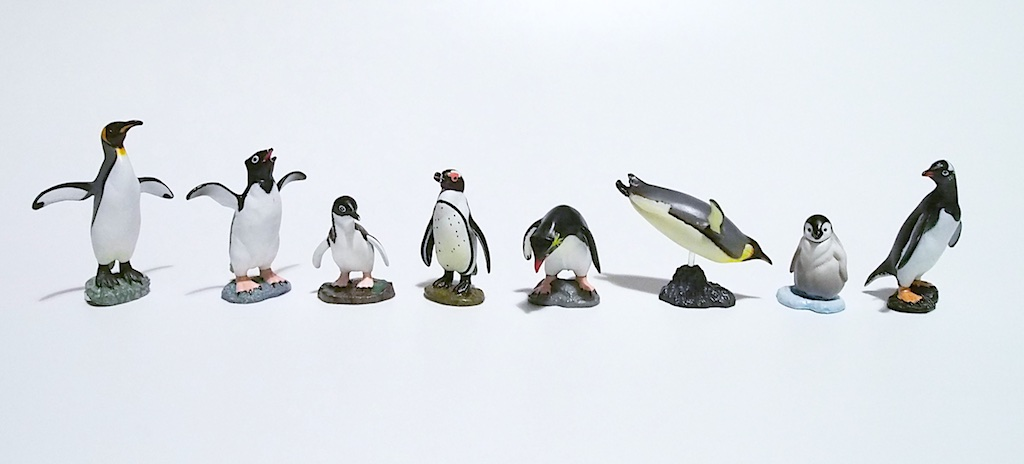 I Love Desk Penguin Figure
