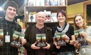 Author Robert Slater promotes All Is Silence at the KWL-sponsored Village Books event in January 2014.
