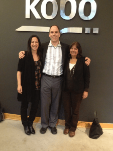 Bella with KWL Director Mark Lefebvre and fellow indie superstar Barbara Freethy, at Kobo HQ.