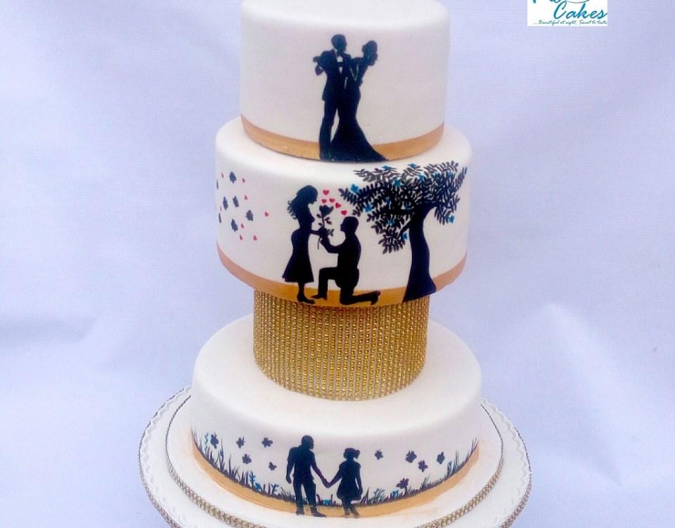 3 Step Wedding Cake