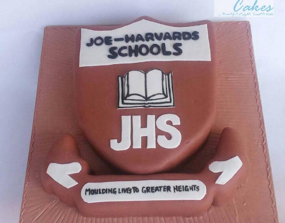 School Logo Cake
