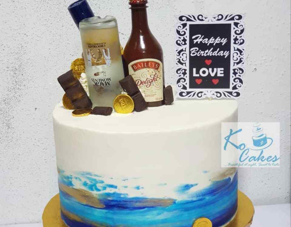 Pallete design cake 2