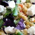 Spargel Quinoa Basilikum Schafkäse