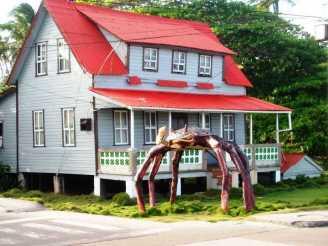 San Andres Kolumbien (Colombia ) Haus mit Krabbe