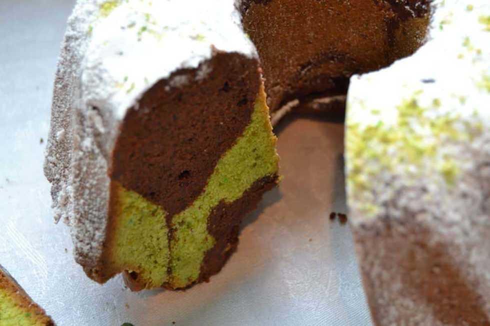 Schokoladen Pistazien Gugelhupf kochen aus liebe