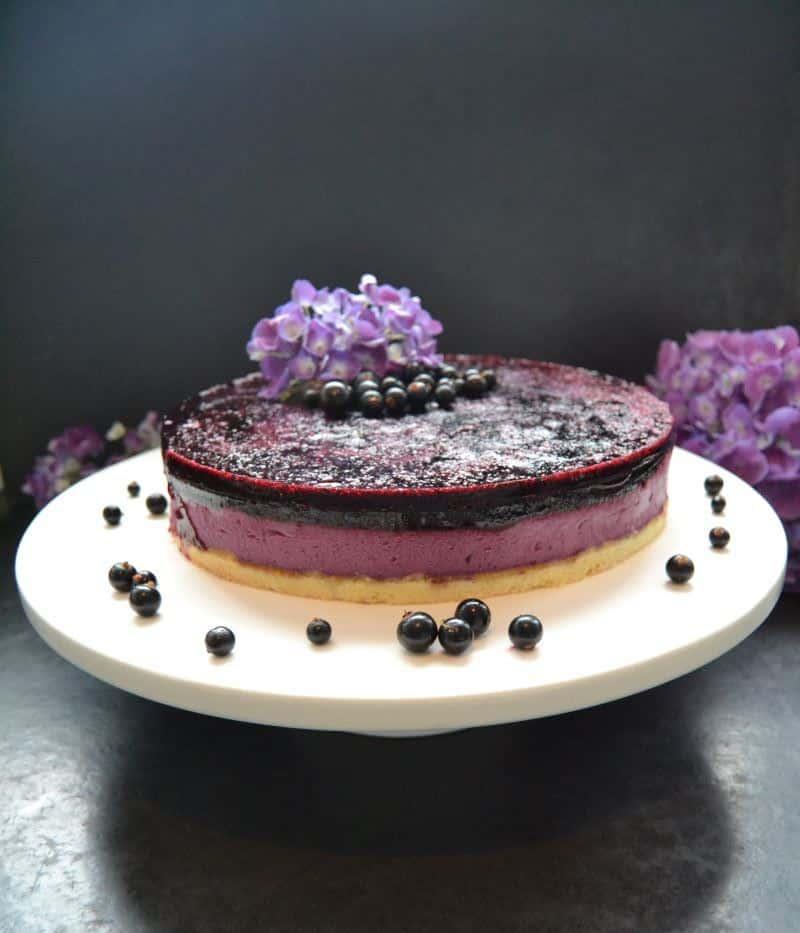 Cassis Torte mit Fruchtspiegel kochen aus liebe