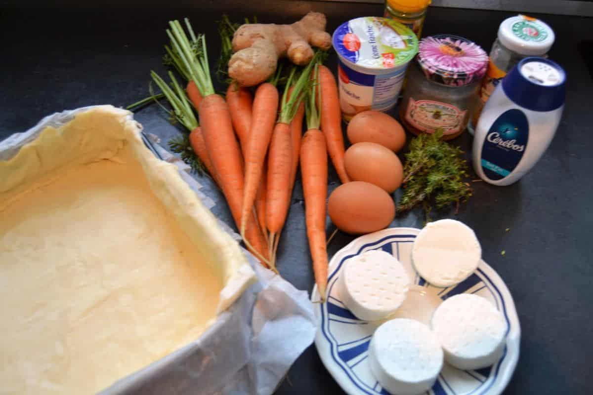 Möhren, Ziegenkäse , Salz, Honig , Teig kochen aus liebe