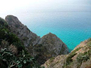 Blick auf das Meer bei Tropea