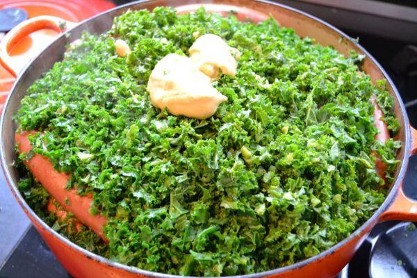 Grünkohl mit Senf kochen
