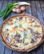 Quiche mit Pilzen Champignon Tarte