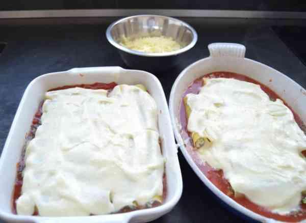 Cannelloni mit Ricotta Spinat und Minze
