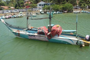 Ein Fischerboot.