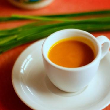 Gruß aus der Küche - Kürbissüppchen aus der Espressotasse