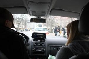 Per Taxi zur Einkaufslocation
