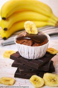 32 Bananenmuffins mit Zartbitterganache