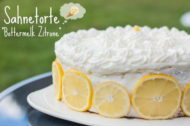 Torte Bottermelk Zitrone Sahne