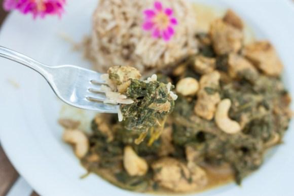 Indisches Spinat-Hähnchen mit Vollkornbasmati 8