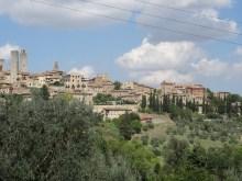 Typisch Toskana: Landschaft in San Gimignano