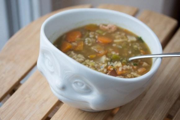 One Pot Reis-Gemüse-Boullion mit Ingwer 10