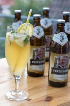 """Auch die Bieretiketten sind meinem Dad gewidmet mit """"Fritzbräu"""""""