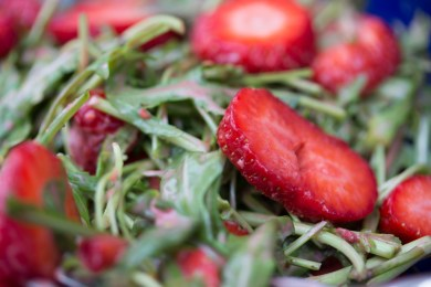 Rucola Erdbeer Salat 6