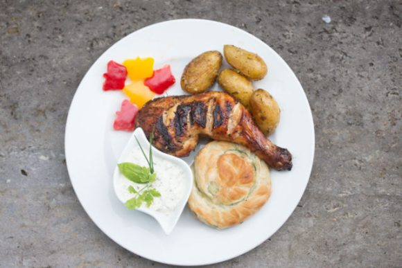 Korsika Hähnchen mit Meggle Schnecke 5