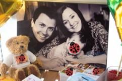 Das Bild auf MDF zeigt Max in Hochglanz: Wir haben dich sehr lieb