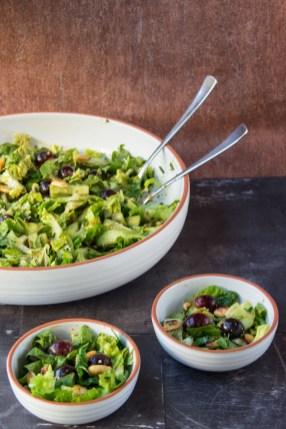 Römer-Salat mit Trauben und Erdnüssen 1