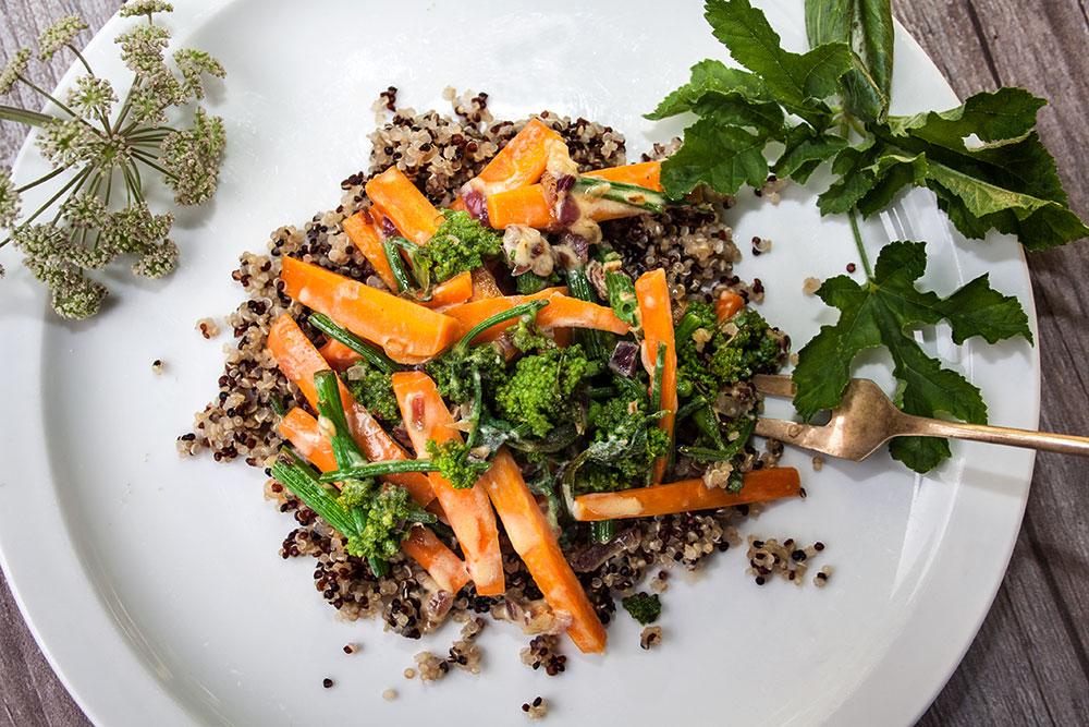 Wiesenbärenklau mit Karotten